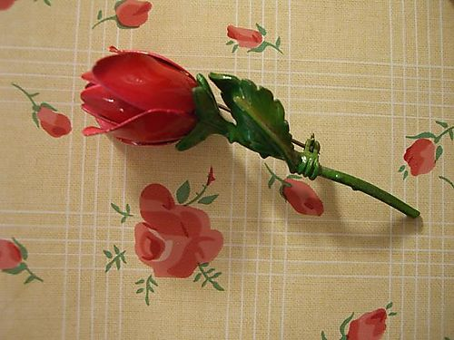 Red rose pin...