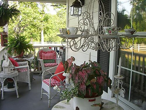 Side porch...