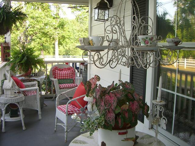 Side porch...