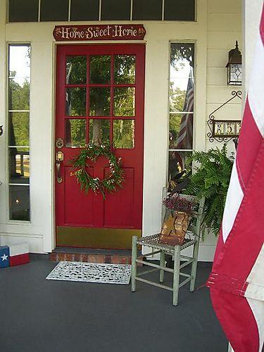 Front door...