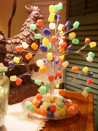 vintage christmas gumdrop tree