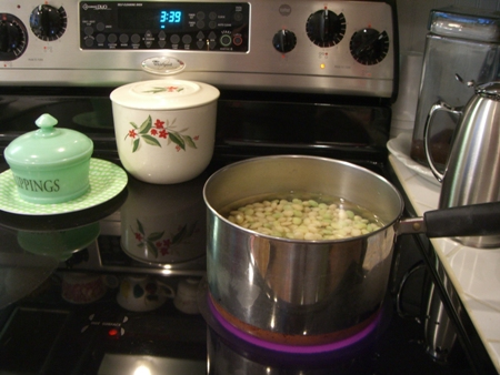 Cooking peas