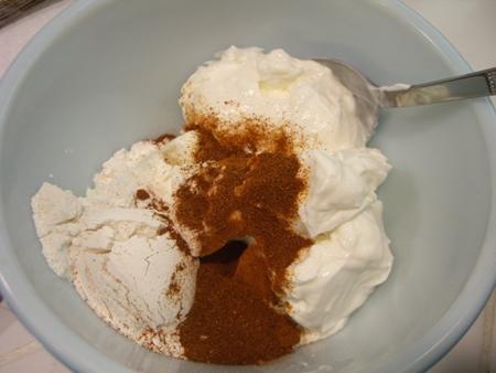 Sour cream, flour, paprika