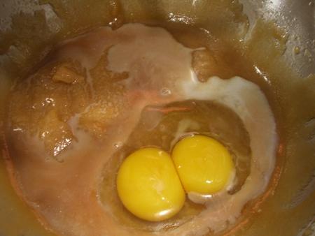 Eggs, yolk, milk, and vanilla...