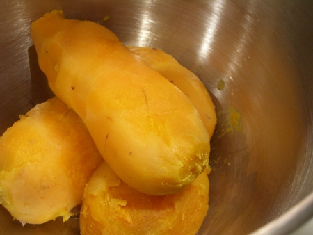 Cooked sweet potatoes...