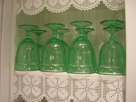Green stemware