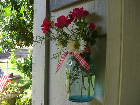 Canning jar for blooms..