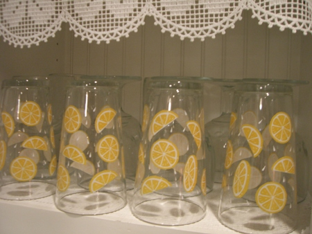 Lemonade glasses...