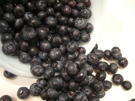Wet pretty blueberries