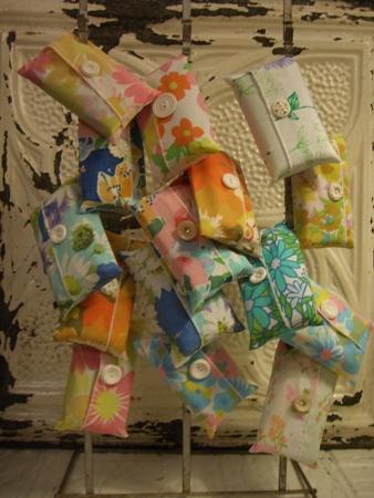Vintage pocket tissue covers..