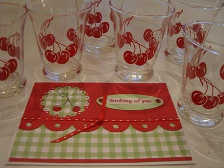 Cherry juice glasses...