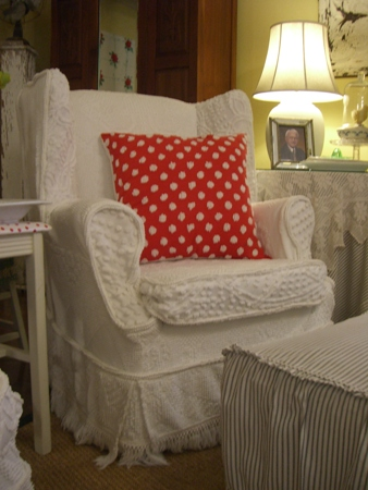 Chenille chairs...