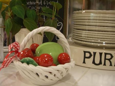 Basket of cherries...