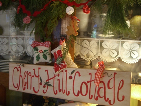 Cherry Hill Cottage sign...