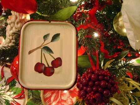 Cherry lid cover ornament...