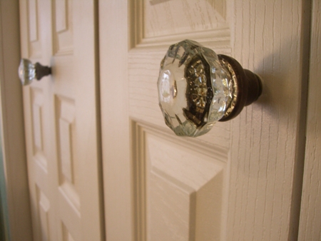 Vintage glass door knobs...