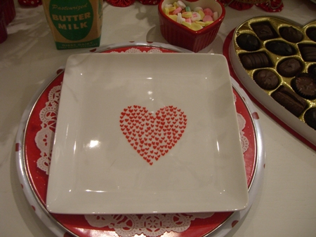 Valentine plate...