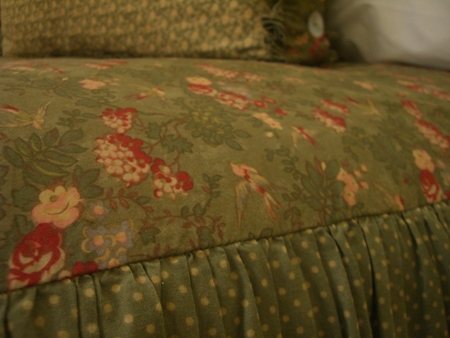 Close-up of fabric...