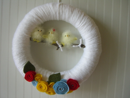 Easter Yarn Wreath..