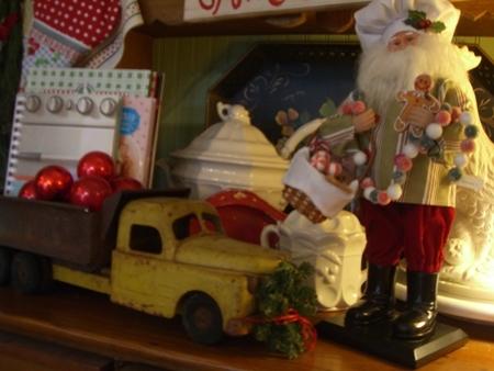 Santa and truck...