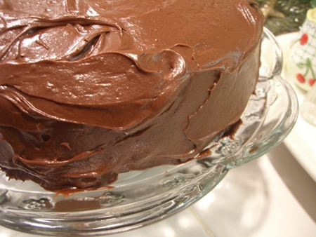 Chocolate frosting...