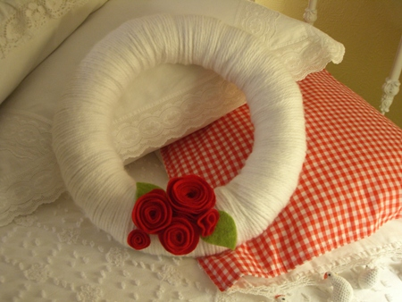 Yarn wreath...
