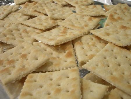 40 saltine crackers...