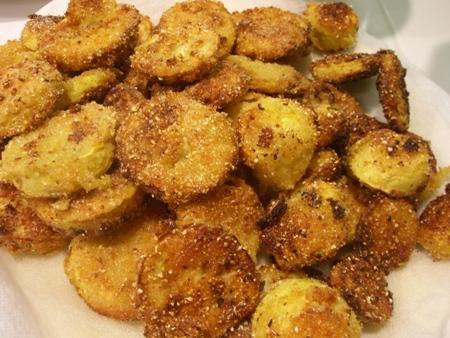 Fresh fried squash...