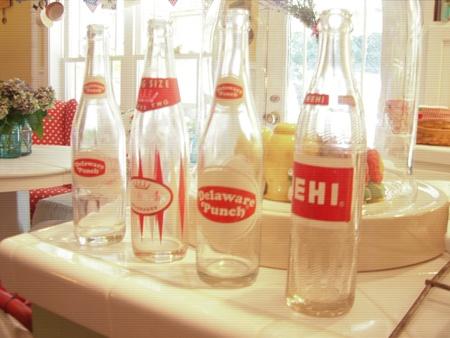 Pop bottles...