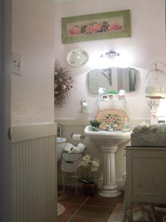 Pink bathroom...