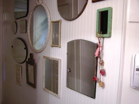 Vintage mirrors...