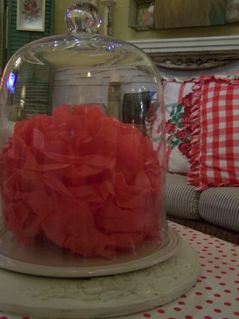 Tissue pom-pom flower...