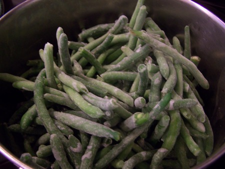 Fresh frozen green beans...