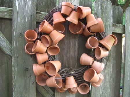 Flower pot wreath...