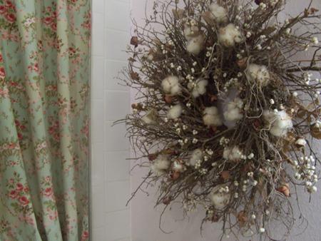 Cotton ball wreath...