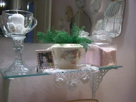 Little glass shelf...