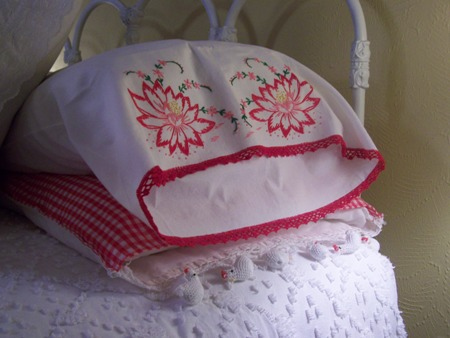 Poinsettia pillowcase...