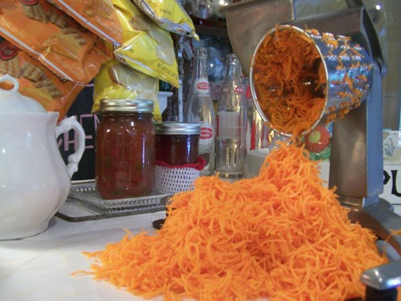 Grated carrots...