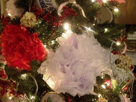 Tissue pom-pom flowers...