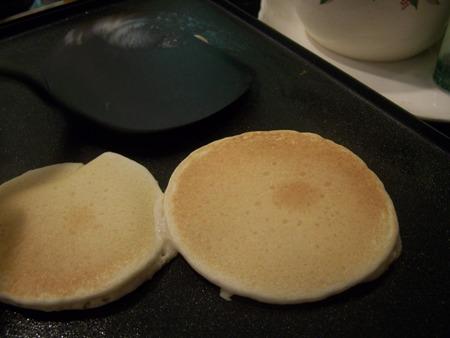 Cooking pancakes...