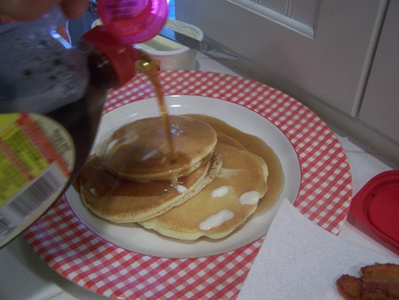 Syrup and butter...