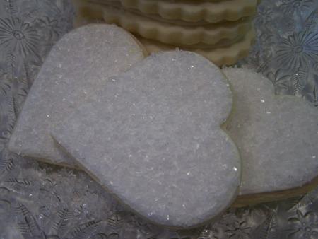 3 heart cookies...