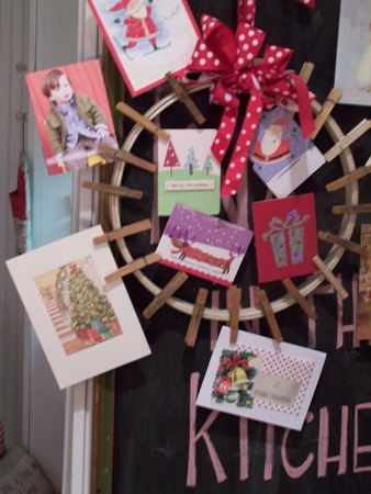 Card wreath...