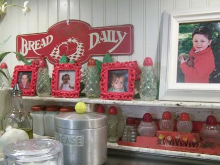 Grandkids in red...