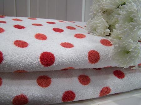 Polka dot towels...