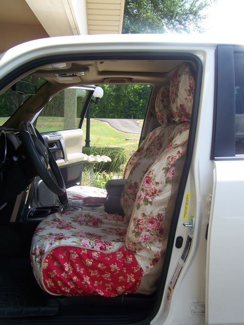 Monica's car slipcovers...