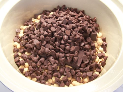 1 12-oz package semisweet chocolate chips...