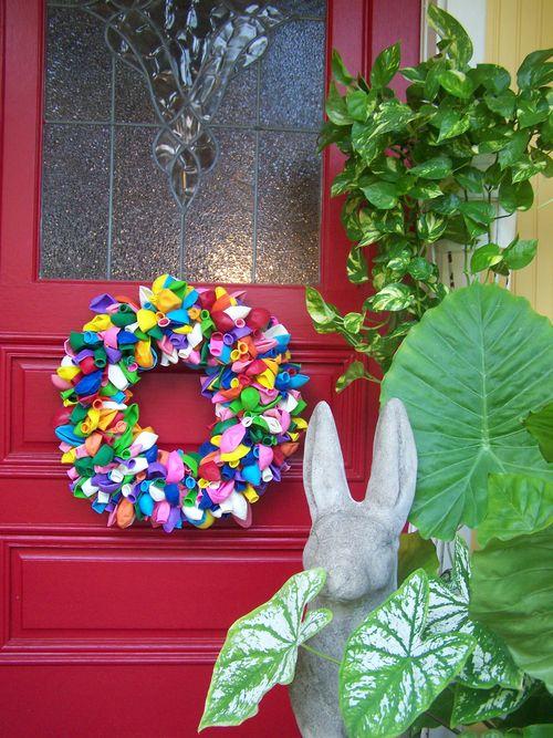 Balloon wreath...