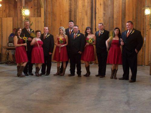 Bridesmaids and groomsmen...