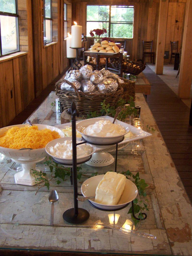 Food table...